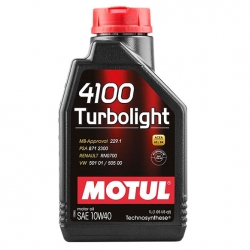 Масло для генераторов MOTUL 4100 Turbolight 10W40 1L