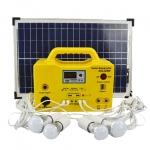 Портативная солнечная станция освещения EverExceed SHS-2012R с FM и mp3